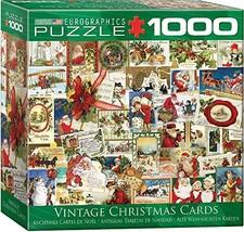 EuroGraphics Vintage Christmas Cards Puzzle 1000 Pieces - $29.14