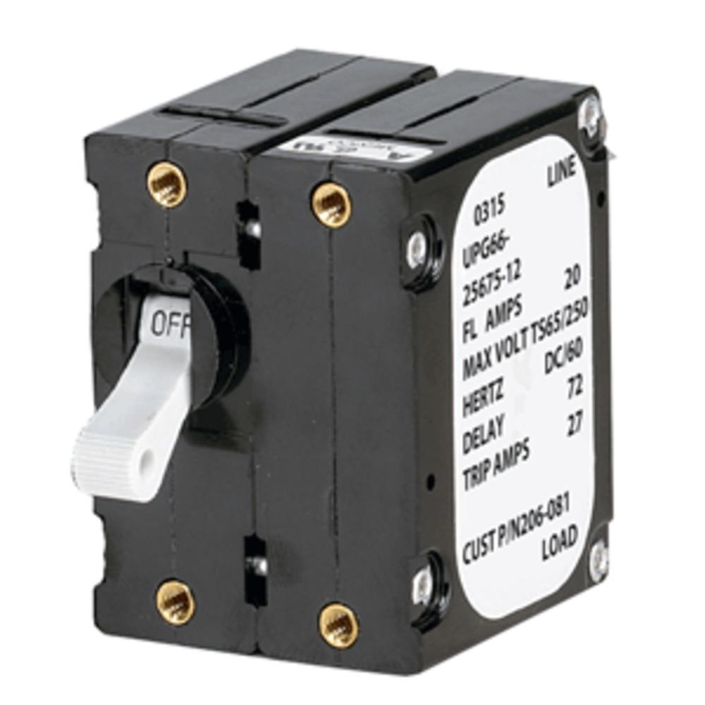 Paneltronics A Frame Magnetic Circuit Breaker - 5 Amps - Double Pole