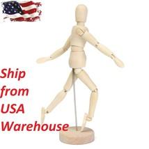Wood Manikin art doll model human body moving Limbs usa Sketching - $9.90