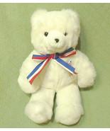 GUND White Teddy Bear 40735 Red White Blue PATRIOTIC Plush Stuffed Anima... - $17.82