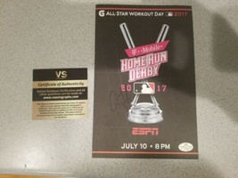Aaron Judge Hand Signed Autographed 2017 Home Run Derby  Program COA - $99.00