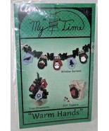 My Time Mittens Warm Hands Paper Foundation Garland Ornament Gift Folk A... - $9.89