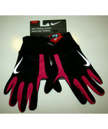 NIKE Thermal Running Gloves Black Gray Pink Unisex  M  Freedom to Scroll... - $18.82