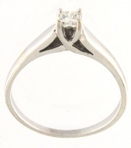 Women's 14kt White Gold Solitaire ring - $299.00