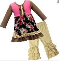 Autumn Fall Tan Brown Berkley Boutique Outfit 12-18m 2 3 4 5 6  gch - $24.99