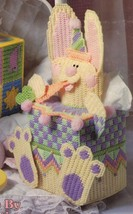 Plastic Canvas Baby Nursery Giraffe Easter Bunny Peek-A-Boo Tissue Cover... - $13.99