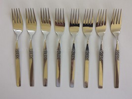 Rogers Deluxe Stainless Oneida San Diego Flatware Unused 8 Dinner Forks - $34.95