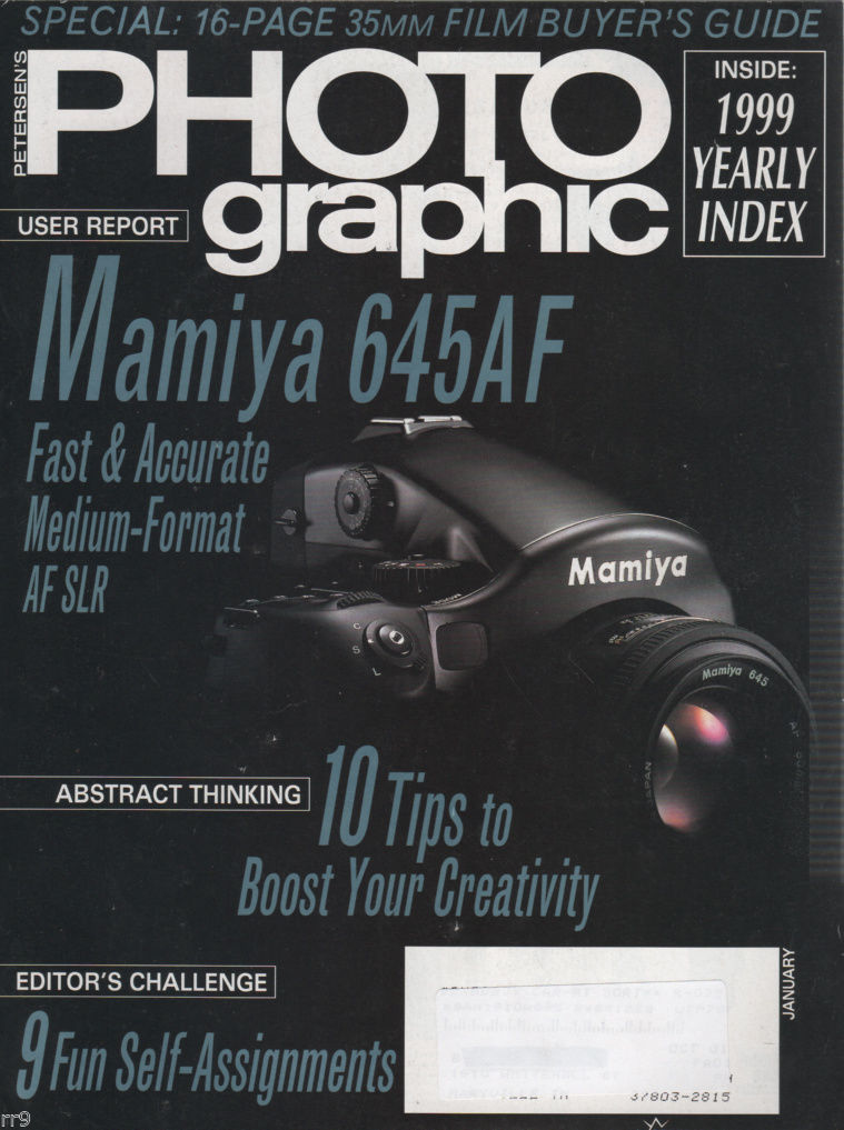 Primary image for Petersen's Photo Graphic Magazine January 2000 Film Buyer's Guide