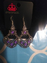 Purple Dangling Earrings - $5.00