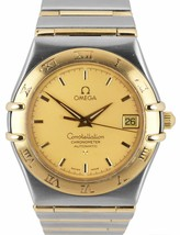 Omega Constellation Two-Tone 'Full Bar' Automatic 35.5mm Date Watch 1202... - $1,499.95
