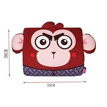 Cartoon Monkey Breathable Lumbar Support/Back Cushion Memory Foam, Mahogany