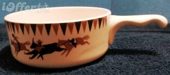 Homer laughlin for lee bates rodeo chili soup bowl fe05