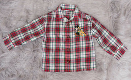 Childrens Small Mickey Mouse and Pluto Button Down Long Sleeve shirt - $5.45