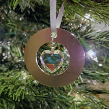 Small Aluminum and Crystal Circle Ornament - Disc image 6