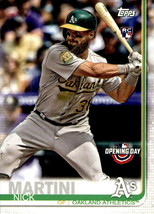 2019 Topps Opening Day #159 Nick Martini RC Rookie Card > Oakland Athletics - $0.99