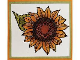 Yvonne Albritton Designs Unmounted Rubber Stamp Sunflower