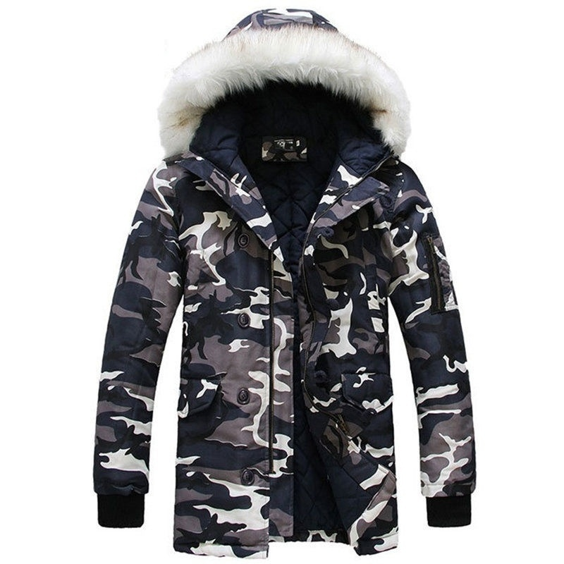 Camouflage Down Jackets  Designer Brand Fashion Winter Jacket Men Camo Snow Outd