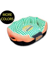 Neutral-Striped Ultra-Plush Rectangular Rounded Fashion Designer Pet Dog... - $59.49+