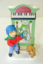 Hallmark 2015 Christmas Ornament Window Tammy's Tune Shop 13th Member Ex... - $14.84