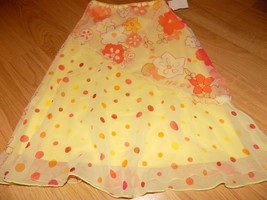 Girl's Size Medium Just Kidding by LA Belle Yellow Coral Floral Flower S... - $14.00