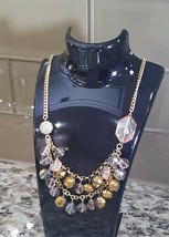 Simply Vera Vera Wang Blush Pink Iridescent Beads Gold Plated Necklace  - $13.50