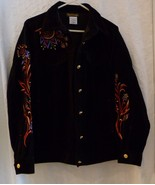 Bob Mackie Wearable Art Women's Black Embroidered Jacket Sz M Made in Ho... - $39.98
