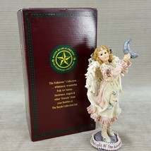 """Boyds Folkstone Luna The Light of The Silvery Moon Girl Angel 7"""" Figurin... - $19.26"""
