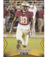 Auden Tate 2018 Leaf Draft Gold Parallel Card #06 - $1.50