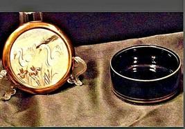 Vintage Swan Trinket/ JewelryBox 24 kt gold AA19-1408 image 2