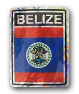 ALBATROS Pack of 12 Belize Country Flag Reflective Decal Bumper Sticker ... - $31.85