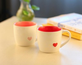 Lovers Cup Love Ceramic Red Heart Mug Coffee Cup Mug Girls Gift Valentin... - $39.99