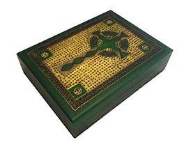Celtic Cross Box Irish Green Wooden Keepsake Handcrafted Polish Wood Decorative  - $29.69