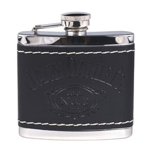 Jack Daniel's Black Leather Wrapped Stainless Steel Flask - €28,35 EUR