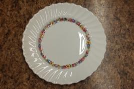 "Royal Doulton Evesham H.4821 Dainty Floral Swirl Salad Plate Saucer 8"" - $17.99"