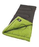 Coleman Sleeping Bag Camping Gear 40 Degree Hiking Flannel Lining Easy Roll - $69.25
