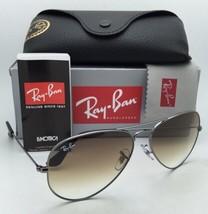 New Ray-Ban Sunglasses AVIATOR LARGE METAL RB 3025 004/51 58-14 Gunmetal w/Brown