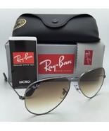 New Ray-Ban Sunglasses AVIATOR LARGE METAL RB 3025 004/51 58-14 Gunmetal... - $169.95