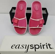 Easy Spirit Sandal Flats Coolest02 Shock Pink Nubuck Women' Size 8 - $32.68