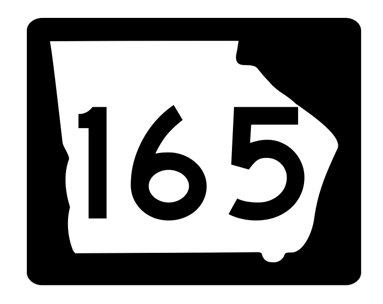Georgia State Route 165 Sticker R3831 Highway Sign