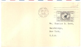 Canal Zone Biological Area 10 cents First Day Cover April 17, 1948 - $4.99