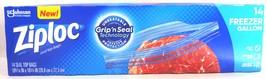 Ziploc Freezer Protection Bags, Gallon, Grip N Seal Top Technology (14 C... - $14.79