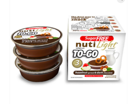 Keto Snacks: To-go Nutilight Hazelnut spread Dark Chocolate. 6 ct (2 net... - $33.66