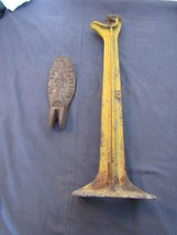 Antique Cast Iron Cobblers Shoe Last Shoemaker Anvil & Stand Big Boy - $28.72