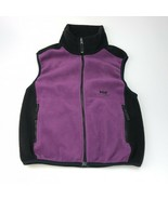 Helly Hansen purple and black fleece vest womens small - $25.24