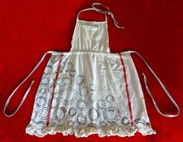 Anthropologie Antique Orbs Apron Subtle Shimmer Striped Straps Vintage G... - £35.24 GBP