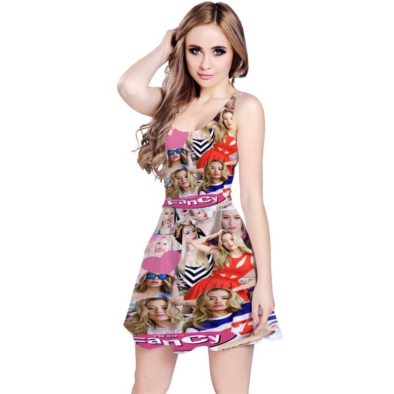 Iggy Azalea Music Collage Reversible Sleeveless Dress