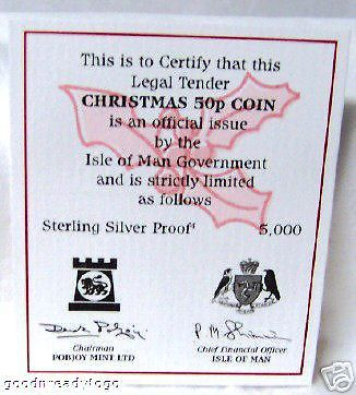 IOM 2006 12 DAYS OF CHRISTMAS SILVER PROOF LE 5000 COIN