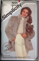 Uncut 1980s Size 16 18 20 Fur Fabric Only Jacket Simplicity 5225 Pattern... - $22.99