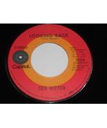"""Tex Ritter NM Looking Back 45 Fall Away 3154 Capitol 7 """" Vinyl - $19.76"""