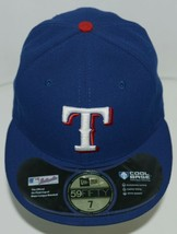New Era CA40289 Texas Rangers Authentic On Field MLB Fitted Size 7 Blue image 1